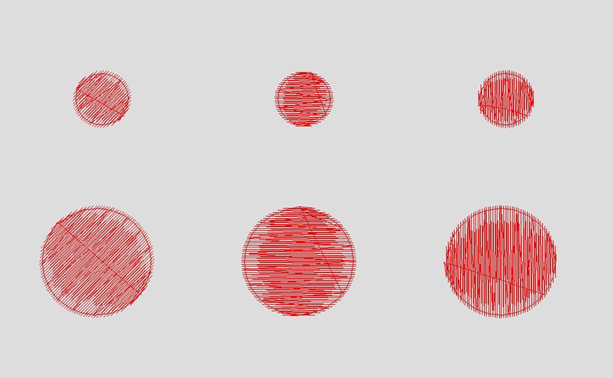 丸形の刺繍データテスト