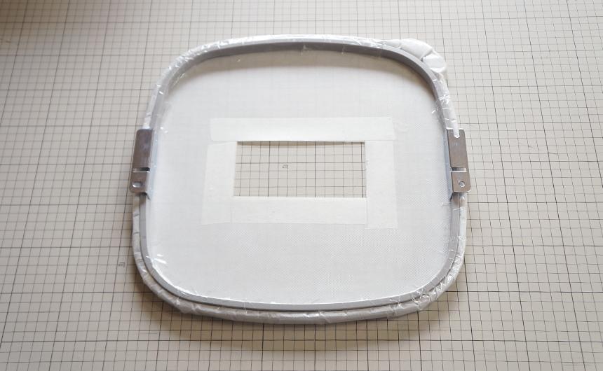 置き縫い枠
