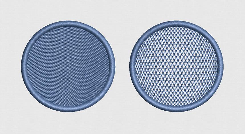 刺繍ソフトの埋め縫い機能