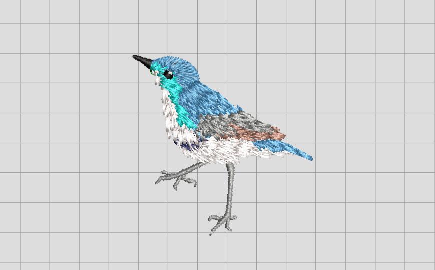 Wilcom ES 青い鳥 手縫い風