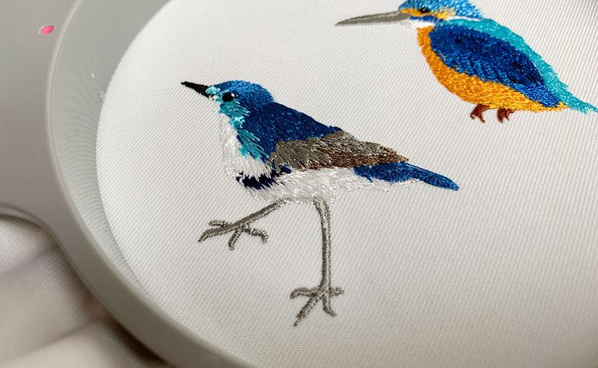 青い鳥 手縫い風