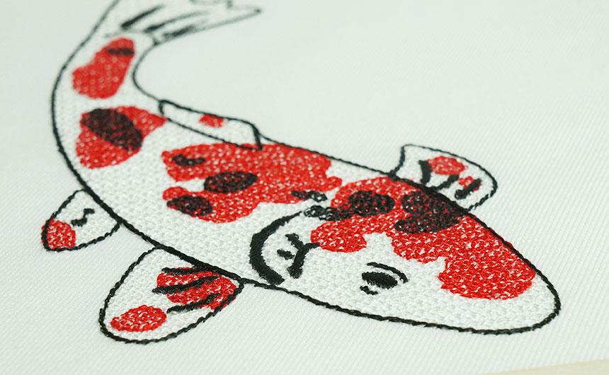 鯉の刺繍 モチーフ