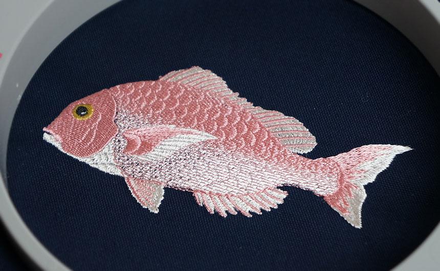 鯛の刺繍 ユーザー設定スプリット