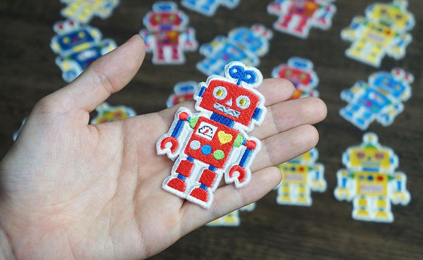 ロボット 刺繍ワッペン