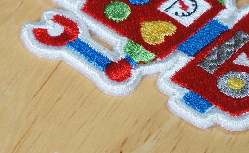 刺繍ワッペンの端処理